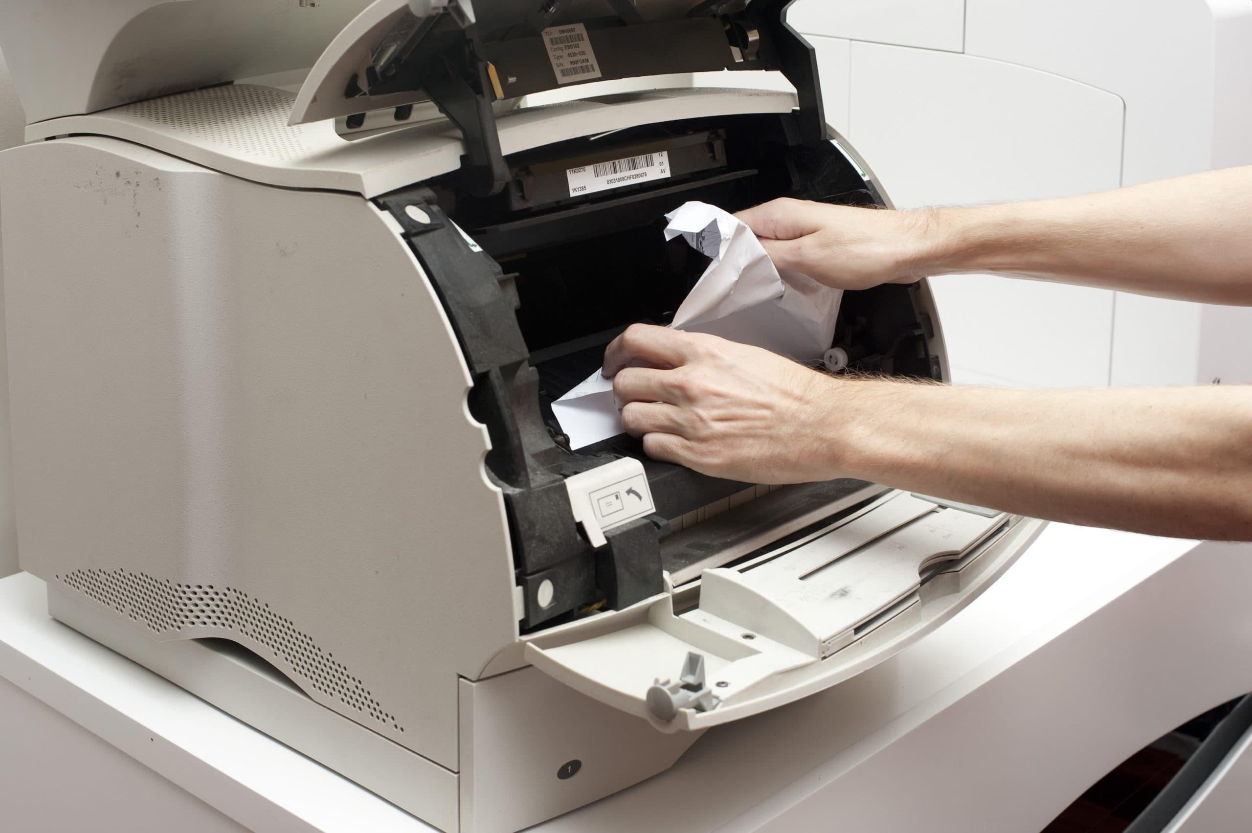 Зажевывание бумаги в принтере